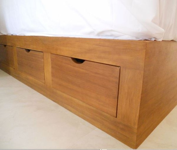 6 drawer base amapa wood mr vallarta 39 s for Twin bed base with drawers