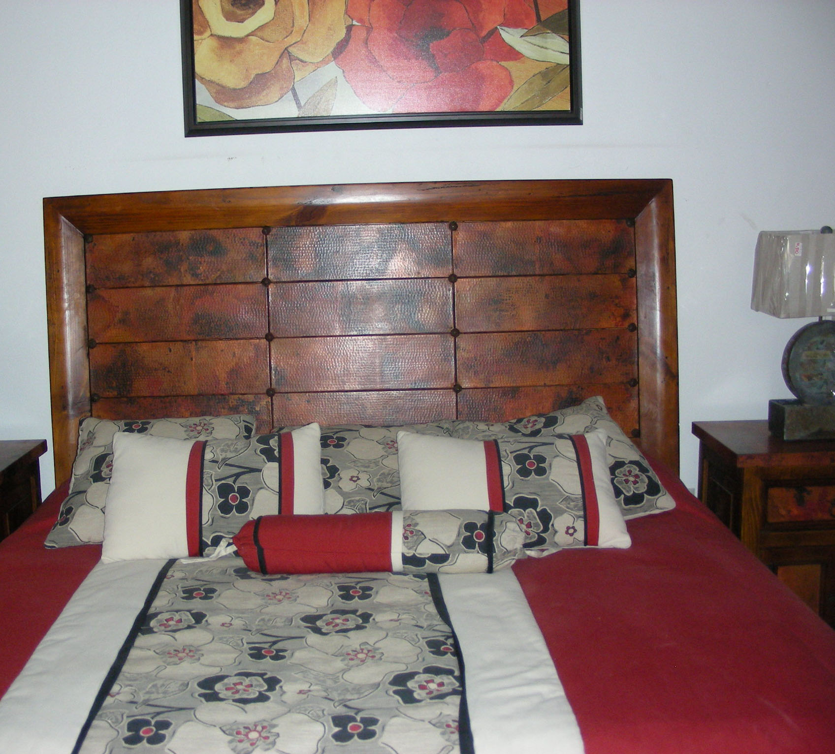 king size headboard finish chrome in bed p htm metal i copper and footboard with