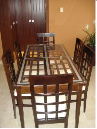 Rectangle Dining Table 6 Person Mr
