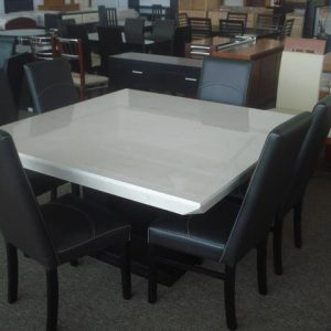 6 Person Marble Dining Table