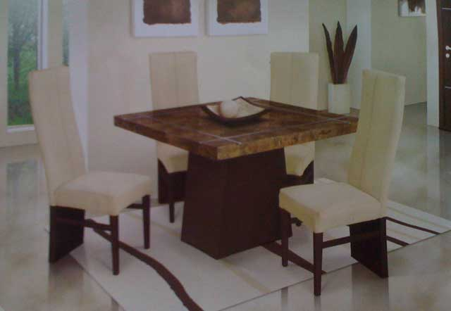 Chapala Dining Marble 4 Person